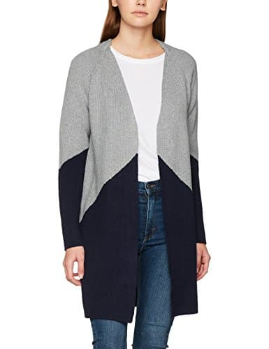 Morgan 172-Mox.M, Cardigan Femme, Gris (Gris Chiné/Marine), Small (Taille Fabricant: TS)