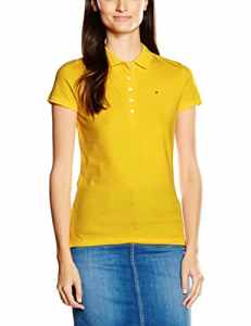 Tommy Hilfiger – New Chiara Str Pq Polo SSPolo – Femme – Jaune (FREESIA 738)X -Small (Taille fabricant: XS)
