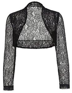 Lace Shrug Bolero veste croisée Cardigan court BP49-1 M