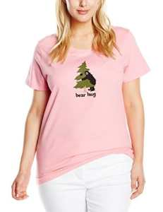 Hatley Women'S Jersey Tee -Book Animals « Bear Hug » – Haut de pyjama – Femme – Rose – Medium (Taille fabricant: Medium)