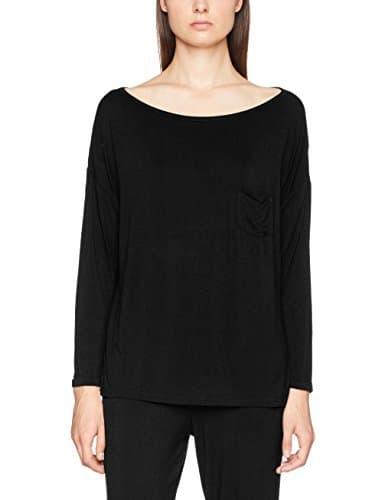 Pour Moi? Sofa Love Long Sleeve Top, Haut de Pyjama Femme, Noir, 38