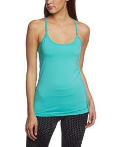 Reebok sport essentials light débardeur pour femme avec soutien-gorge intégré modèle long XS Turquoise – Timeless Teal