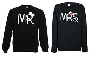 TRVPPY – Sweat Pull, modèle MR & MRS Mickey Minnie – Homme & Femme, différentes tailles et couleurs
