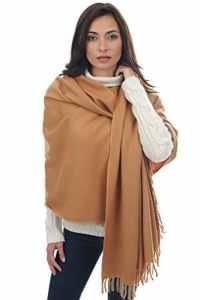 Écharpe Étole Pashmina Cachemire Foulard Châle Touché Soyeux Couleur Uni 200 x 90cm (+ 30 couleurs) (Camel)