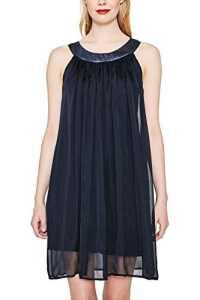 ESPRIT Collection 067eo1e020, Robe Femme, Bleu (Navy 400), 38