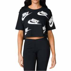 Nike 928688-010 T-Shirt Femme, Noir/Blanc, FR : S (Taille Fabricant : S)