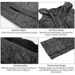 Fitibest Femmes Veste en Plein air Zip Vêtements de Sport Chemise de Sport Yoga Slim Sport Vestes de Sport Avec Trous de Pouce (S, Gris)