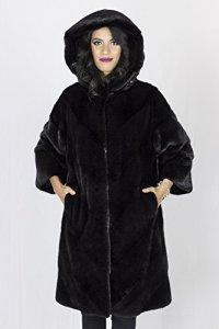 PELLICCEFUR Black mink coat hood pelliccia visone Pelz Nerz мех 水貂 皮草