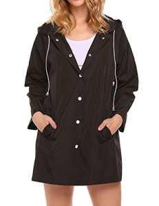 Imperméable Léger, Veste imperméable, Imperméable à capuche extérieur pour femmes