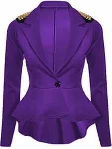 Nouveau court coupe-Clothings Blazer péplum pour femme Taille 24 – – 50