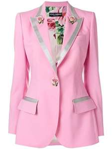 Dolce E Gabbana Femme F294hzfubajf0660 Rose Laine Blazer