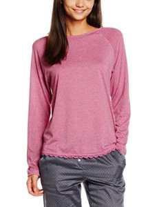 LingaDore Serena Top m/Split OP Schouder, Haut de Pyjama Femme, Rose (Blossom), 38 (Taille Fabricant: Medium)