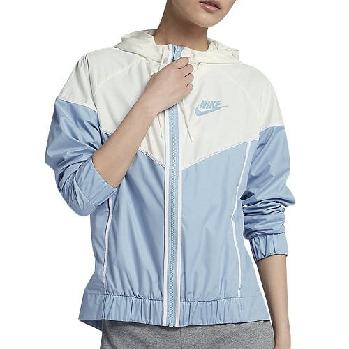 Nike W NSW WR JKT Veste Femme, Bleu Leche/Voile/Blanc, FR : S (Taille Fabricant : S)