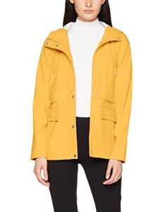 Only Onltrain Short Raincoat OTW Noos, Manteau Imperméable Femme, Jaune (Yolk Yellow Yolk Yellow), 42 (Taille Fabricant: Medium)