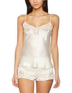Aubade Top Fines Bretelles, Haut de Pyjama Femme, Écru (Nacre), 3