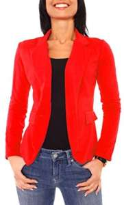 Easy Young Fashion Veste de tailleur – Femme – Rouge – 38