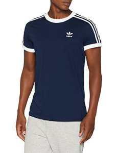 adidas 3-Stripes T-Shirt Femme, Bleu Marine, 48