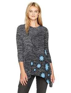 Desigual TS_Agatha, T-Shirt Femme, Bleu (Navy 5000), X-Large