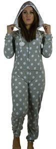 Grenouillère pour femme combinaison pyjama et détente femmes oreilles 3D – Gris – 44