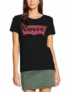 Levi's The Perfect Tee, T-Shirt Femme, Noir (Large Batwing Black 201), X-Small