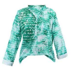 Rovinci Femmes Chemise Grande Taille Floral Impression Bouton Manche Longue Chemisier Décontractée Sauvage Arrêtez-Vous Tops