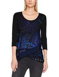 Desigual TS_Sheila, T-Shirt Femme, Bleu (Navy 5000), X-Small