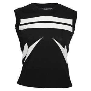Neil Barrett Pnma383be617524Femme Blanc/Noir Viscose Top – Multicolore – 34