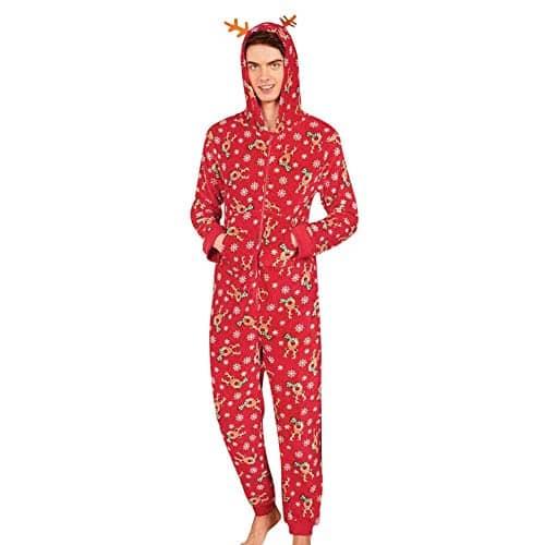 6f48286cb4089 Rovinci 2018 L automne Hiver Pyjamas de Famille Mode Femmes Hommes Enfant  Renne Impression Combi-Pantalon à Capuche Fermeture éclair Vêtements de Nuit  Tenue ...