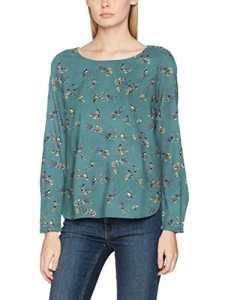 TOM TAILOR Lovely Print Shirt, Blouse Femme, Vert (Salvia Green 7547), 38