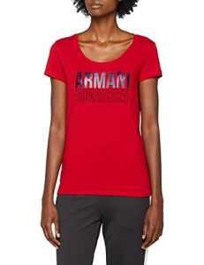 Armani Exchange 8nyt77, T-Shirt Femme, Rouge (Bloody Mary 1445), X-Large