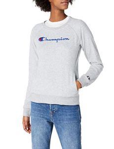 Champion Crewneck Sweatshirt-Institutionals, Sweat-Shirt Femme, Gris (Oxgm), X-Large (Taille Fabricant: XL)
