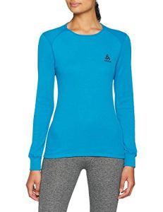 Odlo T- Shirt ML Active Warm Originals Manches Longues Femme, Turkish Tile, FR : M (Taille Fabricant : M)