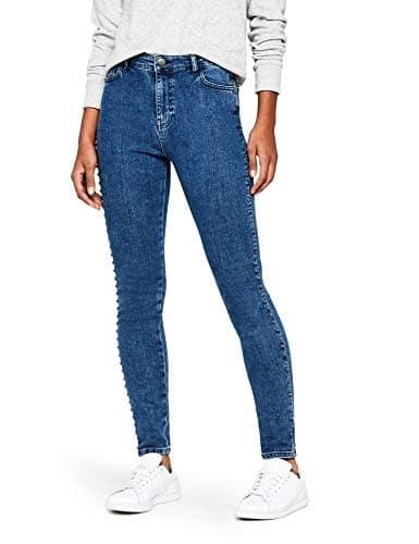 find. Stud Detail Jean Skinny, Bleu (Light Indigo), W34/L32 (Taille Fabricant: 44)
