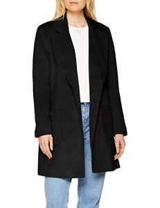 Pieces Pcdebby Belt Trenchcoat BF, Manteau Femme, Noir Black, 42 (Taille Fabricant: X-Large)