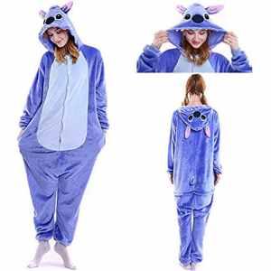 SunRlity Costumes Unisexe Kigurumi Lilo & Stitch Onesie Le Pyjama Film Adulte Ados Cadeau De Noël (Blue, L)