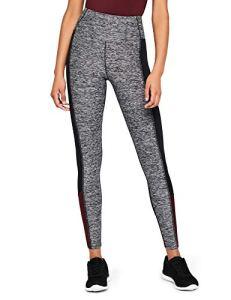 AURIQUE Legging de Sport Bloc Couleur Femme, Gris (Grey Marl/Black/Port Royale), 36 (Taille Fabricant: X-Small)