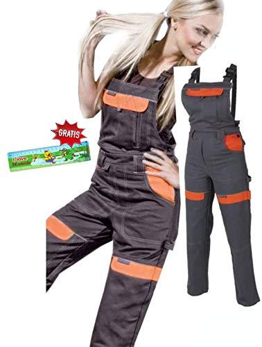 Les femmes salopettes travail pantalons dames et filles Pantalon de travail Salopette pantalon de de jardinage , combinaison 44 EU