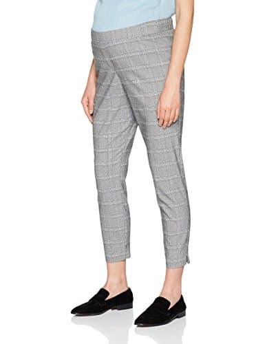 New Look Maternity Blue Check Slim, Pantalon Femme, Gris (Grey Pattern 8), 44