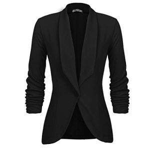 UNibelle Femme Veste De Tailleur Courte Casual Slim Manches Longues Blazer