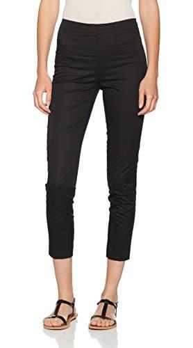 UNITED COLORS OF BENETTON Slim Fit High Rise Trouser, Pantalon Femme, Noir (Black), 12 (Taille Fabricant: 44)