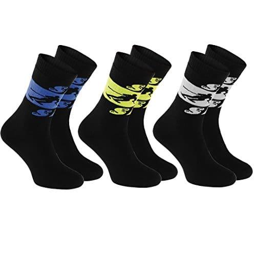3 paires de chaussettes Eponge SKI, taille 39-41 NOIR Parfait pour les SPORTS D'HIVER: Ski, Snowboard, Hockey, Patin à Glace, Curling, Running, Chaud Chaussettes d'hiver en COTON, production en UE