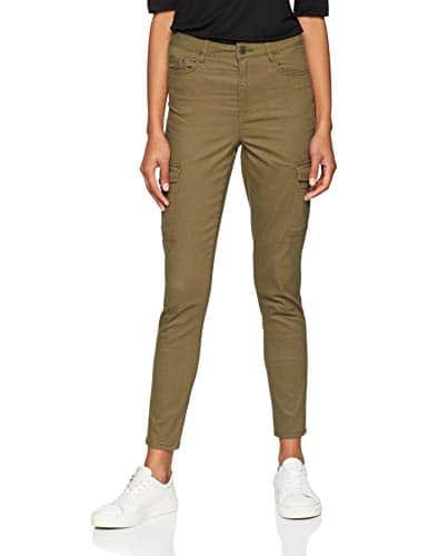 Jennyfer 10BATE, Pantalon Femme, Vert (Kaki 33), W26 (Taille Fabricant: 36)