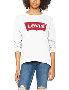 Levi's Relaxed Graphic Crew, Sweat-Shirt Femme, Blanc (Better Batwing Sweatshirt White 0014), Small