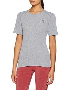 Odlo T- Shirt MC Active Warm Originals Manches Courtes Femme, Mélange Gris, FR : S (Taille Fabricant : S)