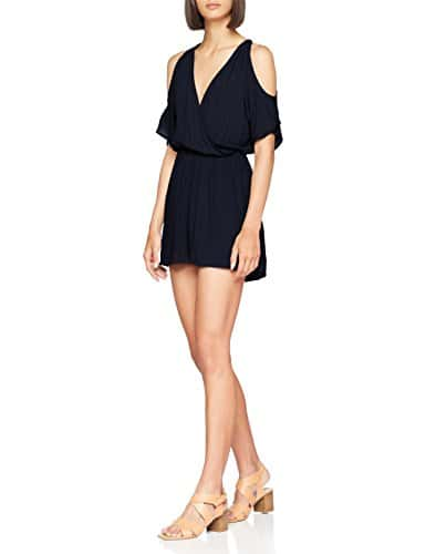 Only Onlsaint Tropez Playsuit WVN, Combishort Femme, Bleu Night Sky, 38 (Taille Fabricant: 36)