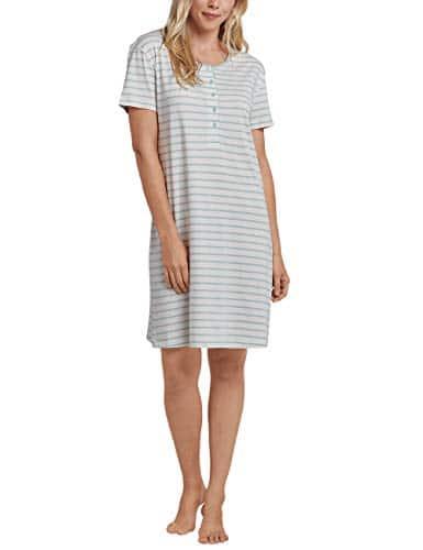 Schiesser Sleepshirt 1/2 Arm, 90cm, Chemise De Nuit Femme, Beige (Creme 408), 40 (Taille Fabricant: 038)