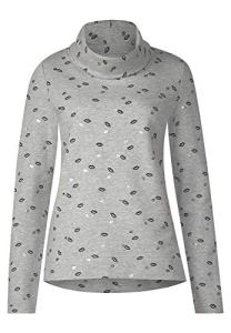 Street One 300740, Sweat-Shirt Femme, Mehrfarbig (Moon Grey Melange 31423), 48