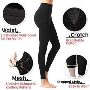 Susenstone Pantalon Legging Minceur Chaussettes Femmes Sexy Sculpting Sleep Taille Haute Chaud Body Shaper Panties (M, Noir)