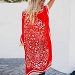 UFACE Kimono à Imprimé Floral,Overdose Été Femme Vintage Veste Longue de Plage Casual Tops Décontracté Tunique Outwear