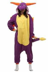 ABYED Enfants/Adulte Unisexe Animal Costume Cosplay Combinaison Licorne Pyjama Nuit Vêtements Soirée de Déguisement , Viola Drago, S160/84A(148-155CM)
